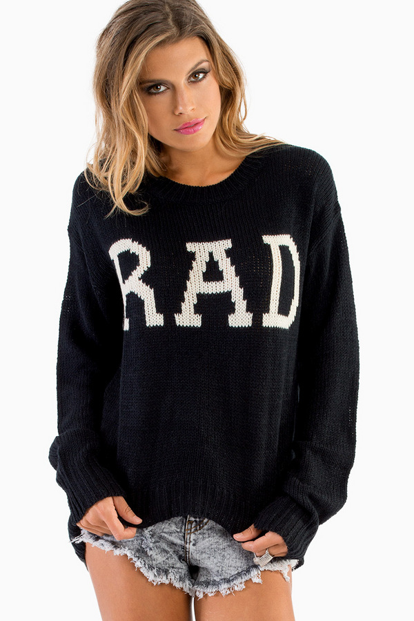 Be Rad Knitted Sweater - TOBI