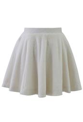 skirt,off-white,faux shearing,skater