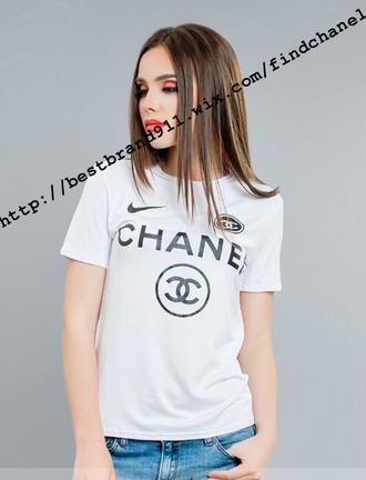 t-shirt chanel t-shirt inspired chanel t-shirt white chanel t-shirt