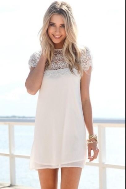 dress ivory dress elope dress short white cocktail dress