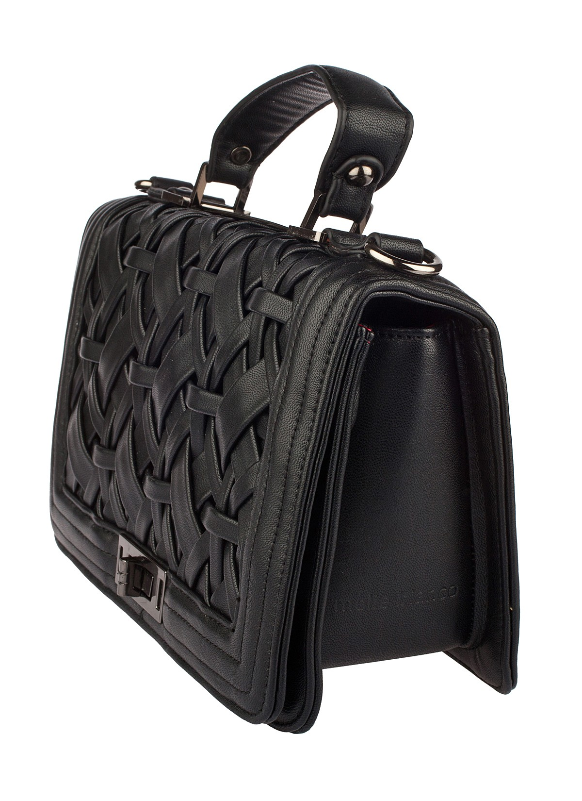 Shop Prima Donna - Whisper Woven Top Handle Bag Black