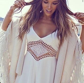 dress white dress summer dress cut-out dress boho dress boho chic