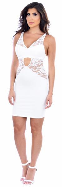 Brie White Lace Dress
