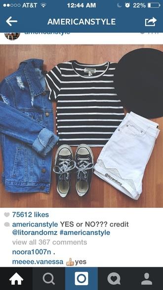 shirt striped shirt black and white shirt