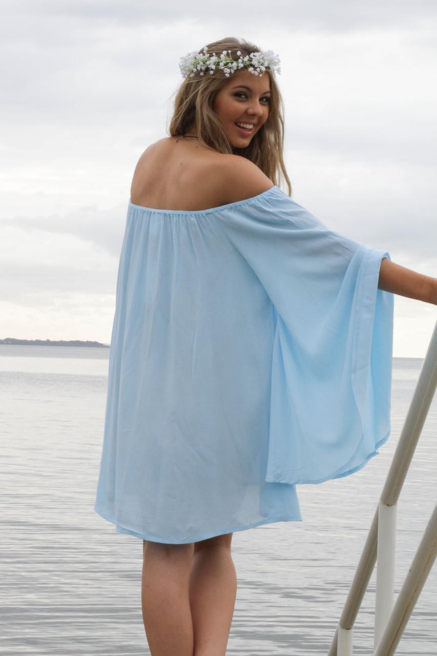 Pastel blue flowy dress