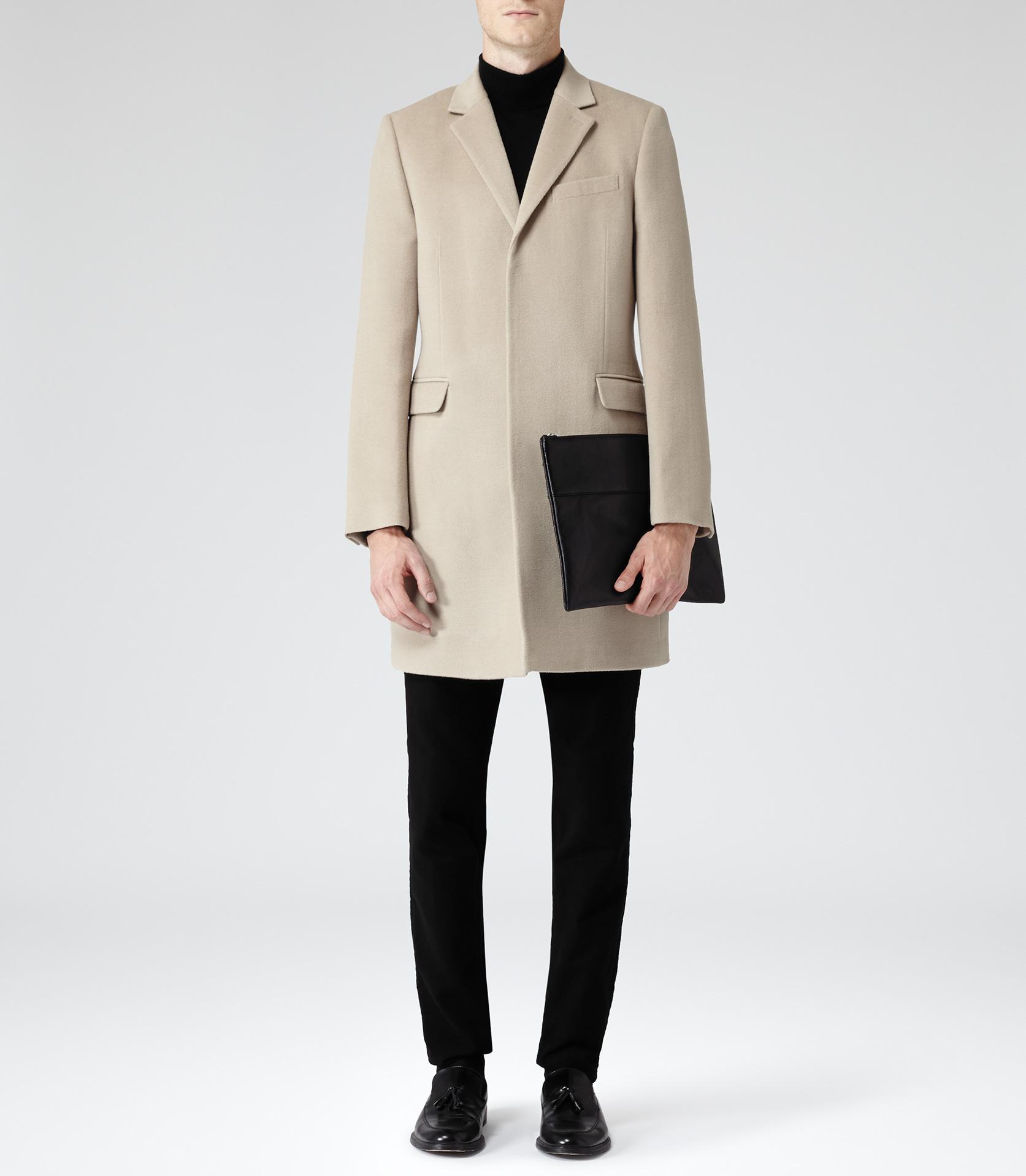 Vassal camel single breasted wool coat