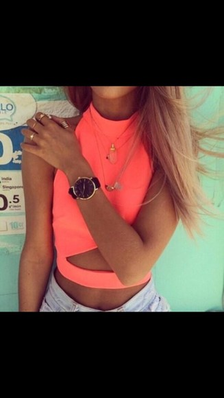 wrap neon summer tank top shirt summer outfits