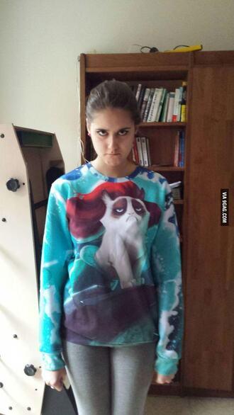 sweater grumpy cat sweater grumpy cat cats cute