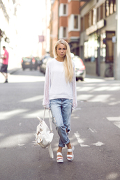 victoria tornegren,shoes,jeans,sweater,white sandals,white sandal heels