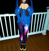 pants,leggings,galaxy print,shoes,black shoes,black