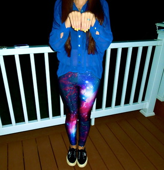 pants leggings galaxy print shoes black shoes black