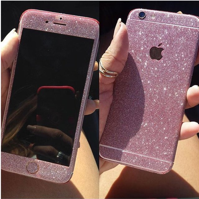 online retailer 9388b 85e4b Pink Glitter Decal for iPhone 6/6s - Ciara O' Doherty