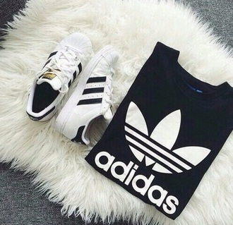 t-shirt black adidas adidas originals