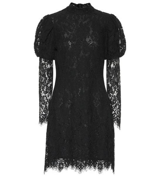 Ganni Lace minidress in black
