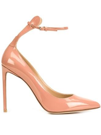ankle strap pumps purple pink shoes