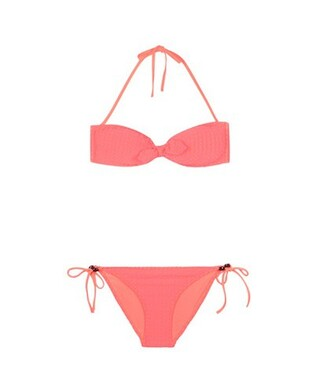 bikini orange swimwear