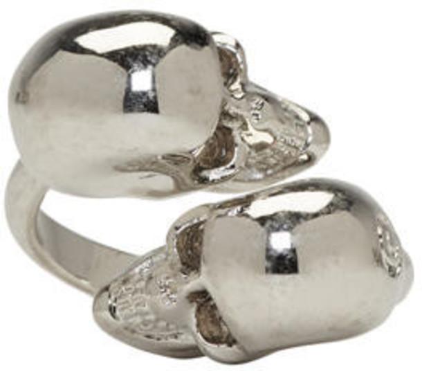 Alexander Mcqueen skull ring skull ring silver jewels