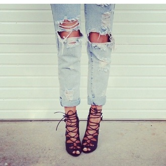 shoes ripped jeans acid wash jeans