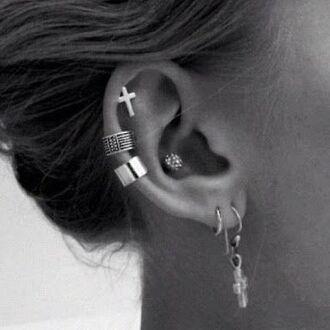 jewels helix piercing earrings jewelry stud earrings cross earring cross