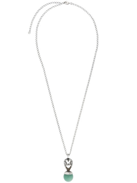 Midgard Paris women love necklace pendant silver grey metallic jewels