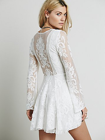 Free people reign over me lace dress