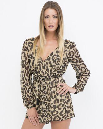 romper leopard print leopard print romper
