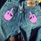 'middle finger' boyfriend jeans