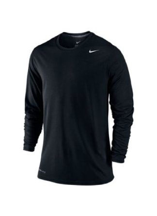 nike legend dri fit poly long sleeve crew mens s clothing. Black Bedroom Furniture Sets. Home Design Ideas