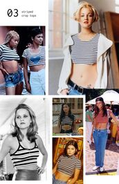 top,1990,90s style,t-shirt,shirt,vintage,crop tops,cropped,90s grunge,hip hop,vintage top,stripey,stripes,stripey tee,sexy,cool,girl,90s look,90s tshirt,stripy