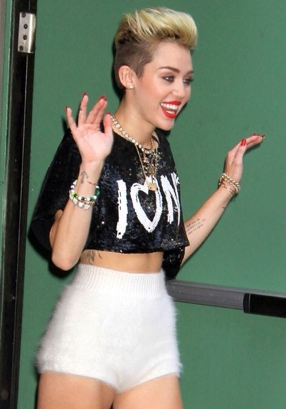 miley cyrus shorts fuzzy high waisted short