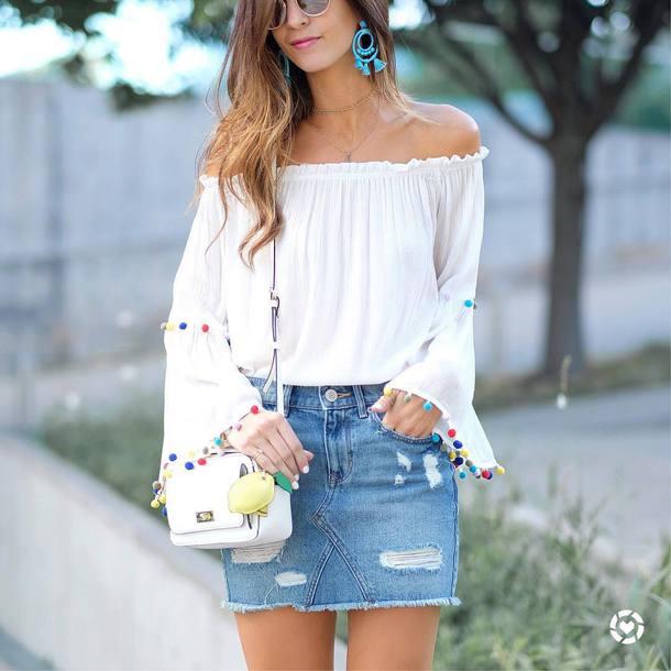 114f6c8b393 blouse tumblr white blouse white top top off the shoulder off the shoulder  top bag white
