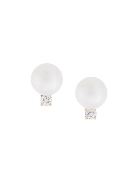 Jemma Wynne women earrings stud earrings gold white yellow jewels