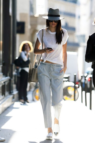 shoes hat fashion week 2014 pants kendall jenner