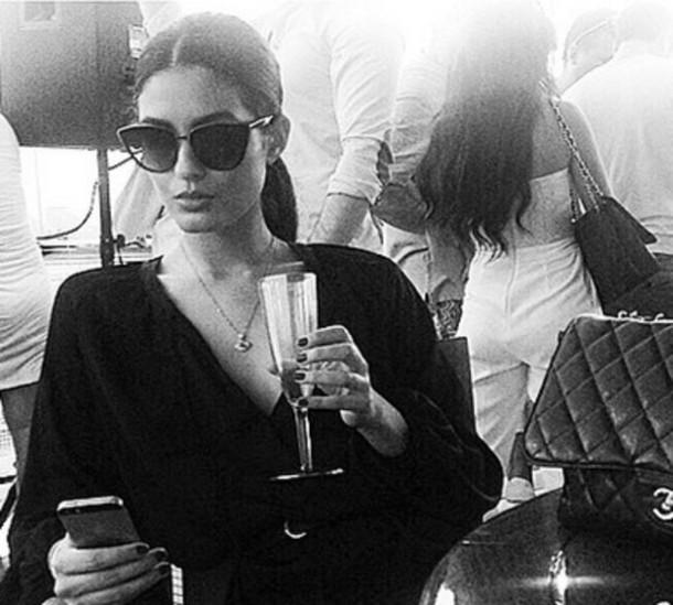 sunglasses black sunglasses cat eye