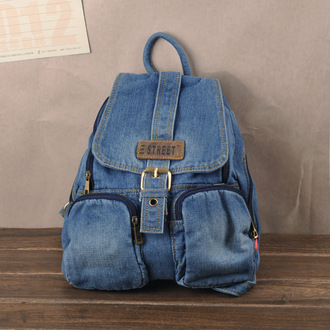 bag denim bag jeans bag denim backpack blue bag