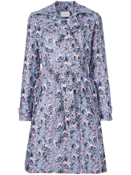 Giuseppe Di Morabito coat trench coat women floral wool purple pink