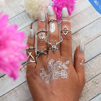 jewels cherry diva boho bohemian gypsy skull silver silver ring silver jewelry boho jewelry knuckle ring ring