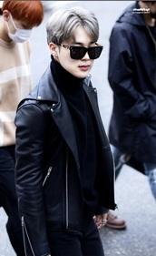 jacket,leather,leather jacket,bts,bts jimin,bts jungkook,bts min yoongi,black