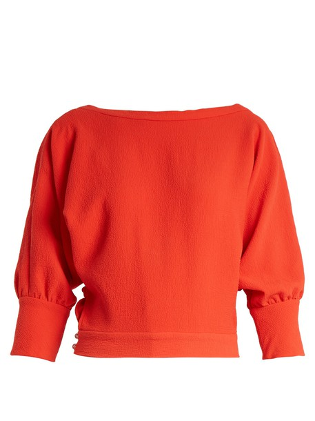 Rachel Comey top back long red