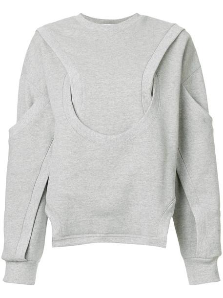 Vejas sweater women layered cotton grey