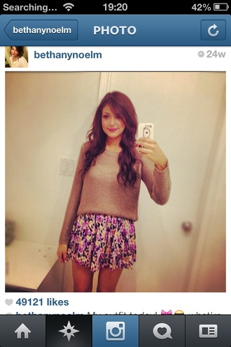 sweater bethany mota skirt
