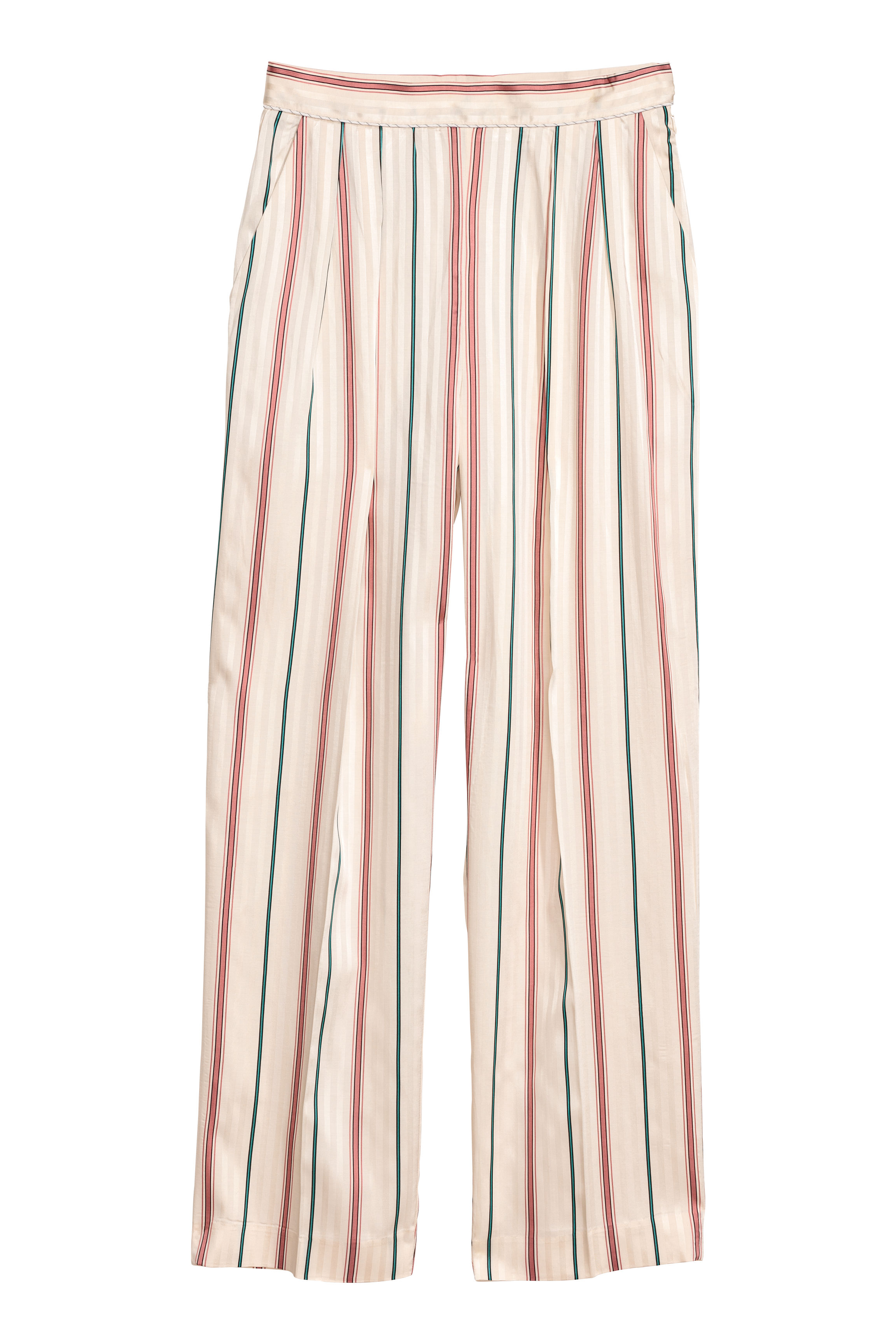 Wide trousers - Cream/Striped - Ladies | H&M GB