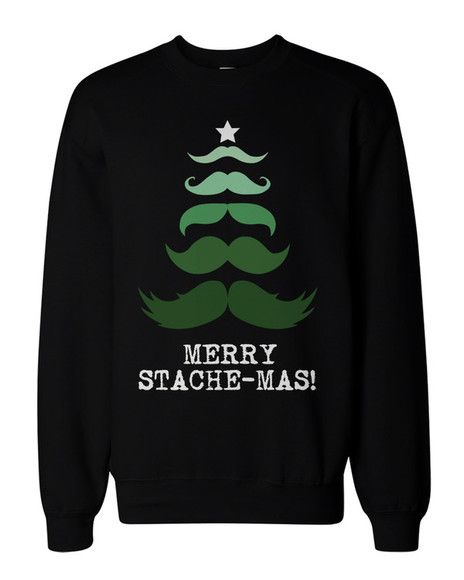 moustache christmas sweater menswear mens sweater holiday season