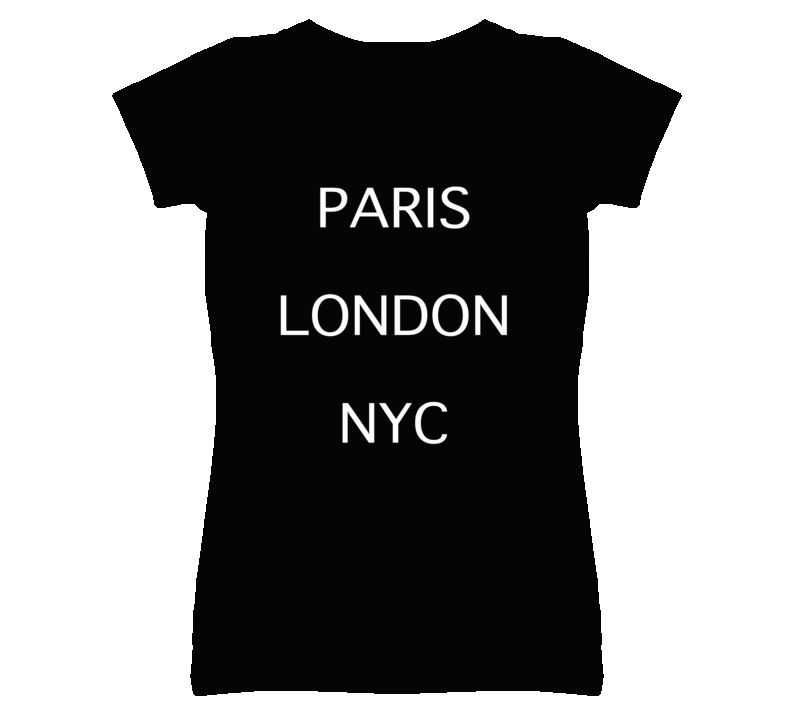 Paris London NYC France England USA Cities Graphic T Shirt