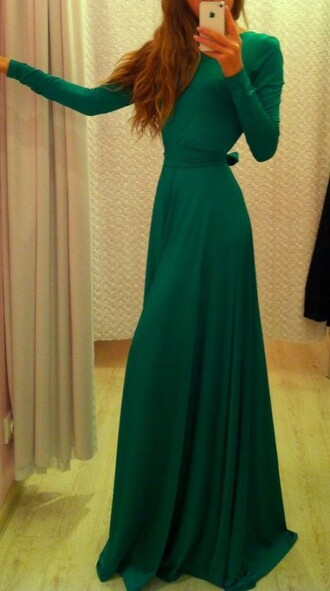 maxi maxi dress green dress audrey hepburn long sleeve dress