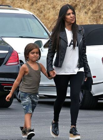 jacket top leggings kourtney kardashian platform shoes
