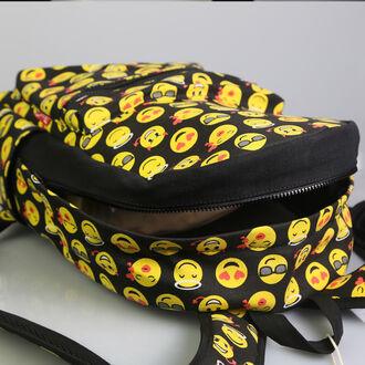 bag emoji print fashion back to school backpack hipster tumblr