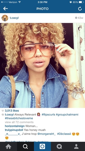sunglasses curly hair black girls killin it