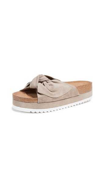 9832c6f32a6a Jeffrey Campbell Jeffrey Campbell Rotuma Bow Slides in taupe