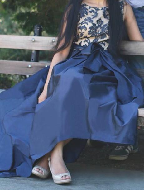 dress prom dress blue dress